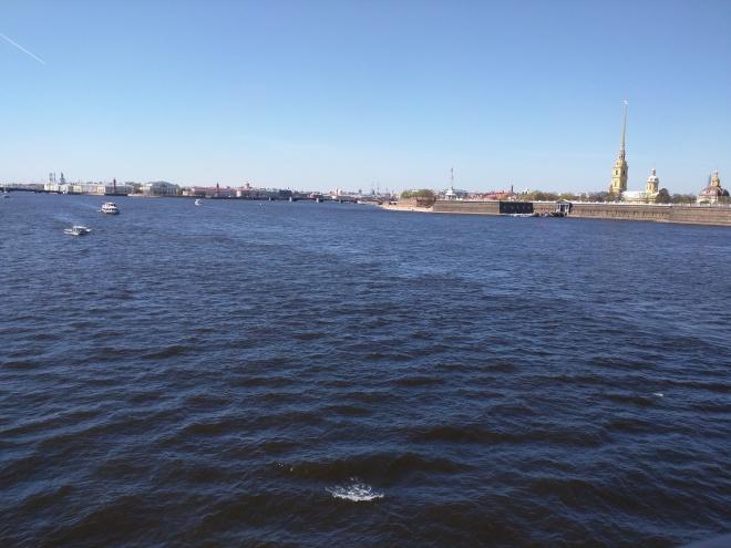 Petersburgo Fortaleza de Pedro e Paulo da ponte Troitski