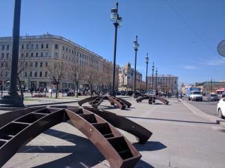 Praça Sennaia Dostoiévski Petersburgo