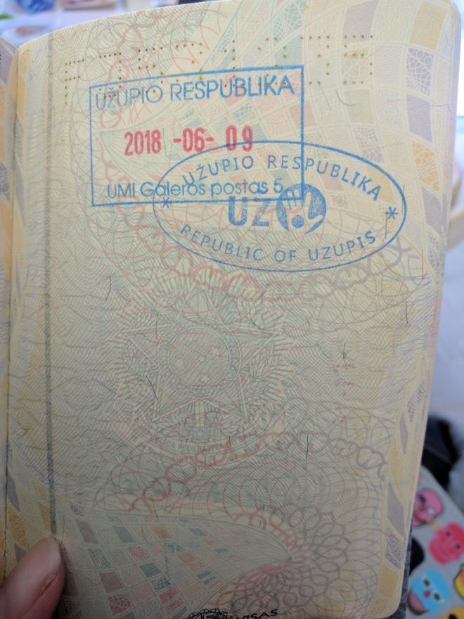 Republica de Uzupis vilnius lituania passaporte carimbo