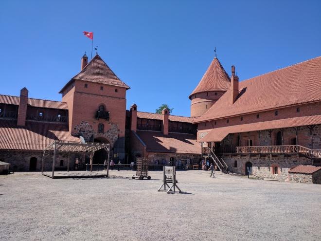 Trakai castelo na ilha lituania interior 2