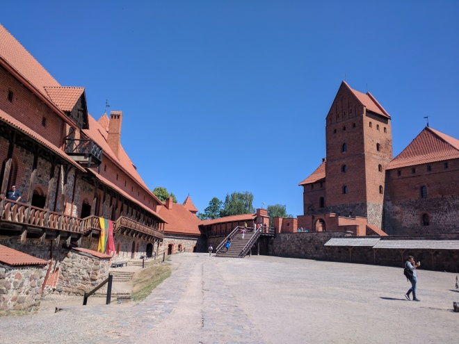 Trakai castelo na ilha lituania interior