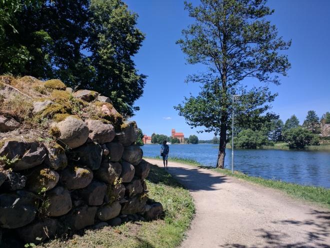 Trakai castelo peninsula muralhas