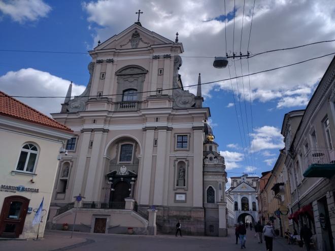 Vilnius Lituania igreja em aurus vartu e portão da alvorada