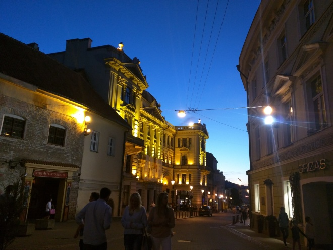 Vilnius Lituania noite
