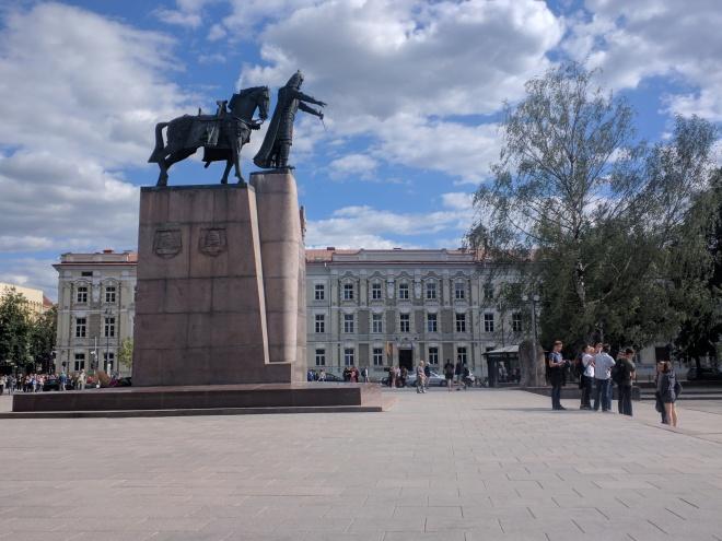 Vilnius Lituania praça da catedral