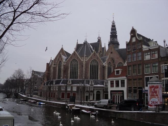 Bairro Luz Vermelha Oude Kerk igreja Amsterdam
