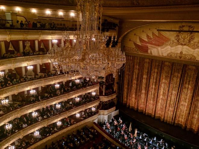 Ballet Bolshoi Moscou vista de cima
