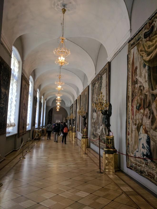 Petersburgo Hermitage corredor tapeçarias