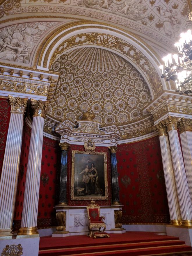 Petersburgo Hermitage palácio de inverno sala de trono de Pedro I