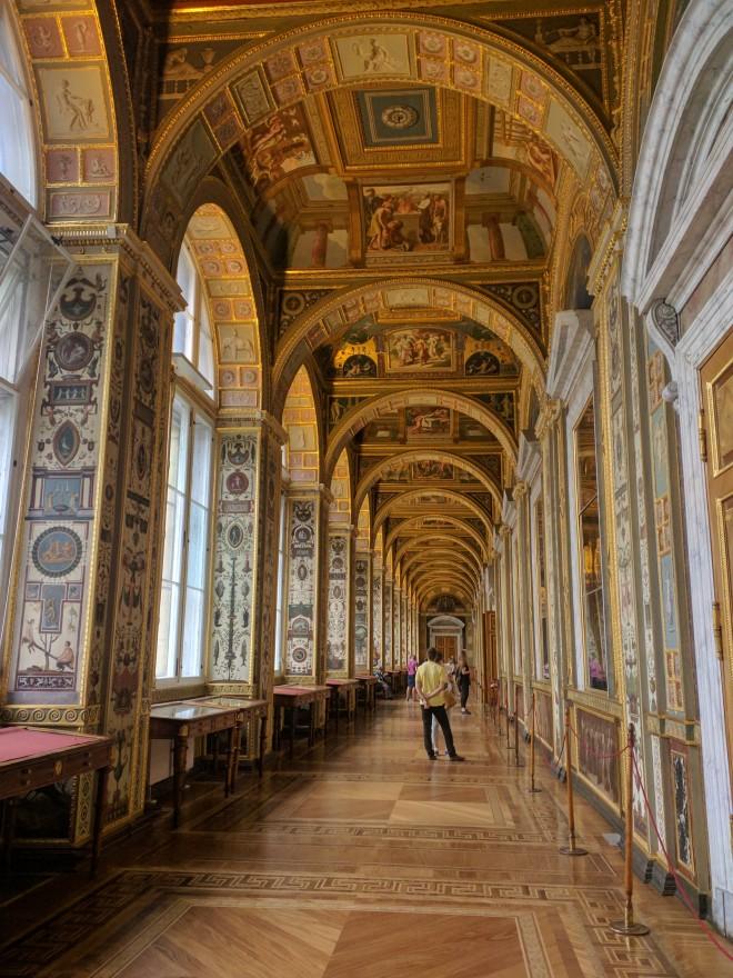 Petersburgo Hermitage sala de rafael copia vaticano