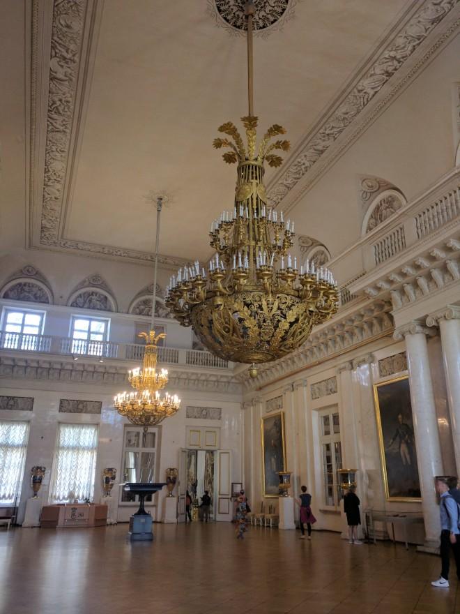 Petersburgo Hermitage salão branco