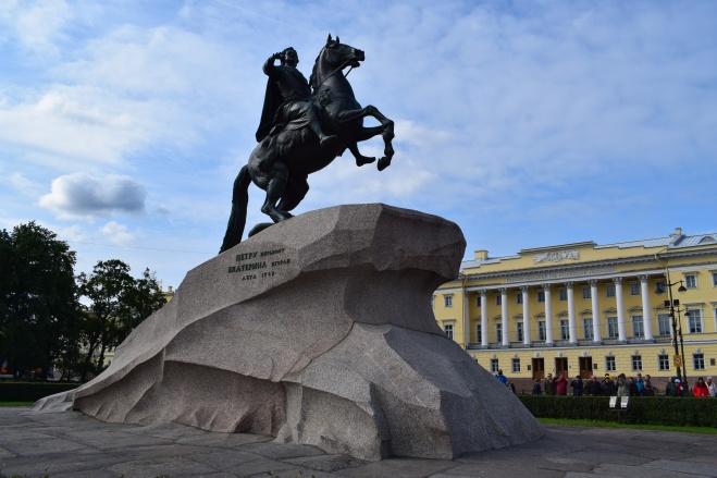 Russia Petersburgo estátua cavaleiro bronze pedro I