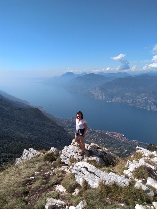 Lago de Garda Malcesine vista do alto do monte Baldo 2