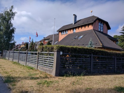 Letonia Riga Casas de madeira