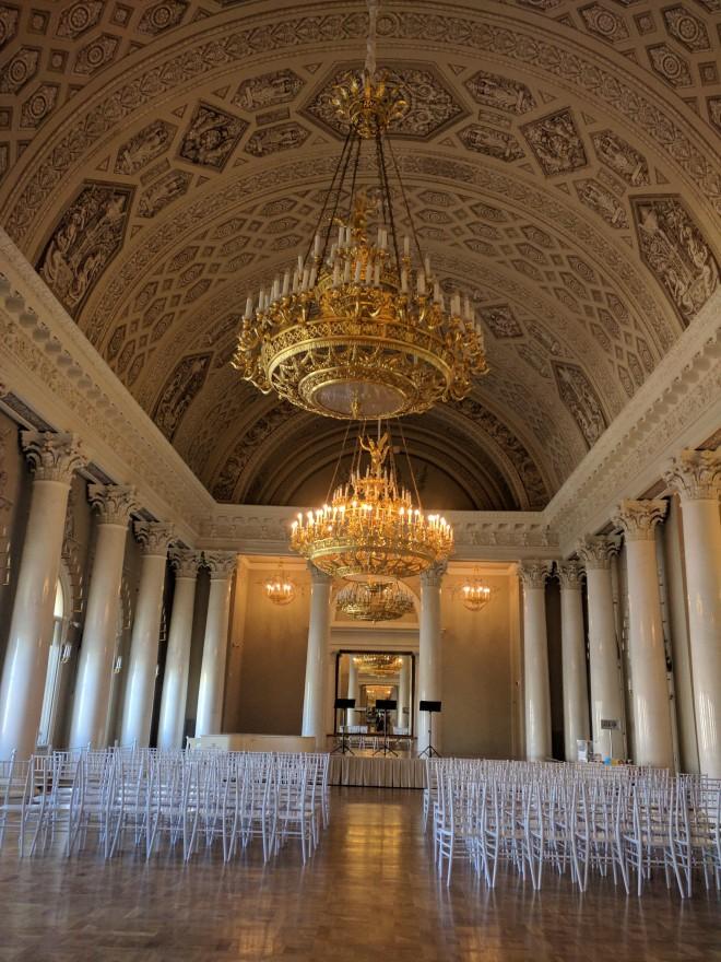 Petersburgo palacio Iussupov sala de concertos