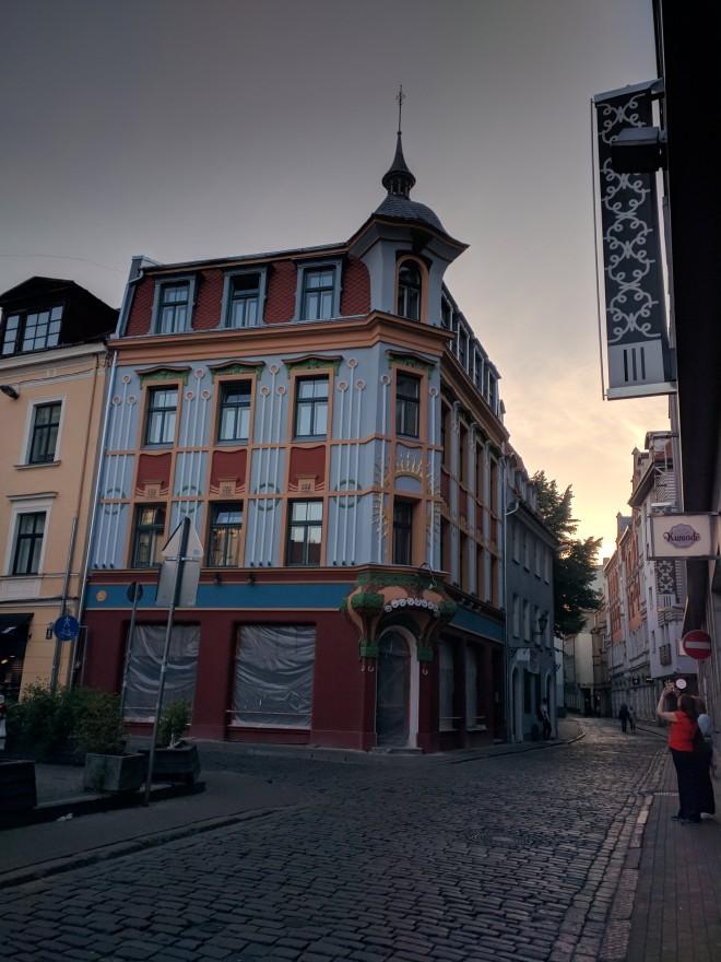 Riga Letonia art nouveau casa da alvorada