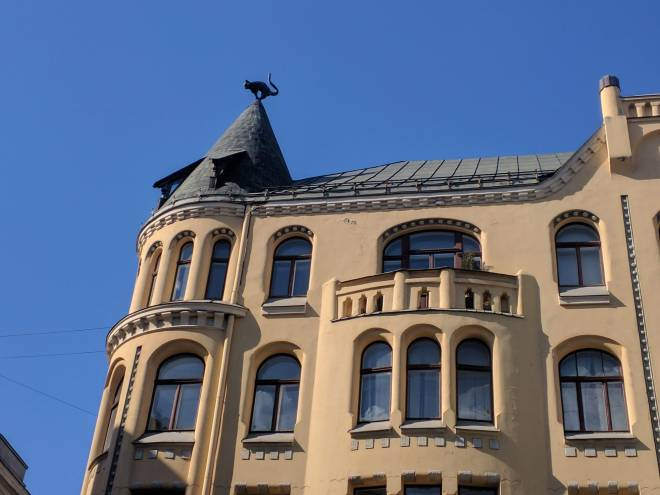 Riga Letonia art nouveau casa gato