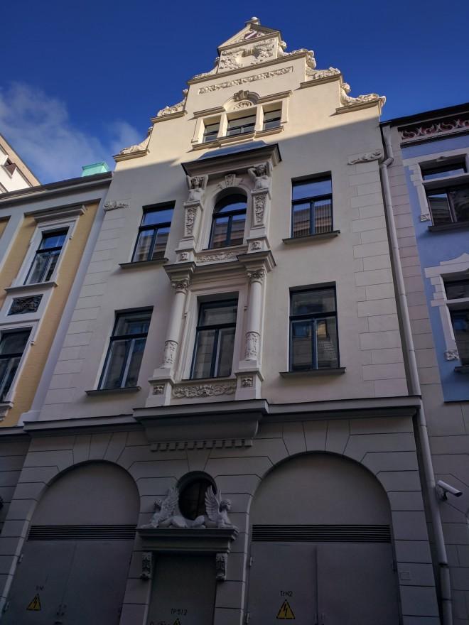 Riga Letonia casa art nouveau