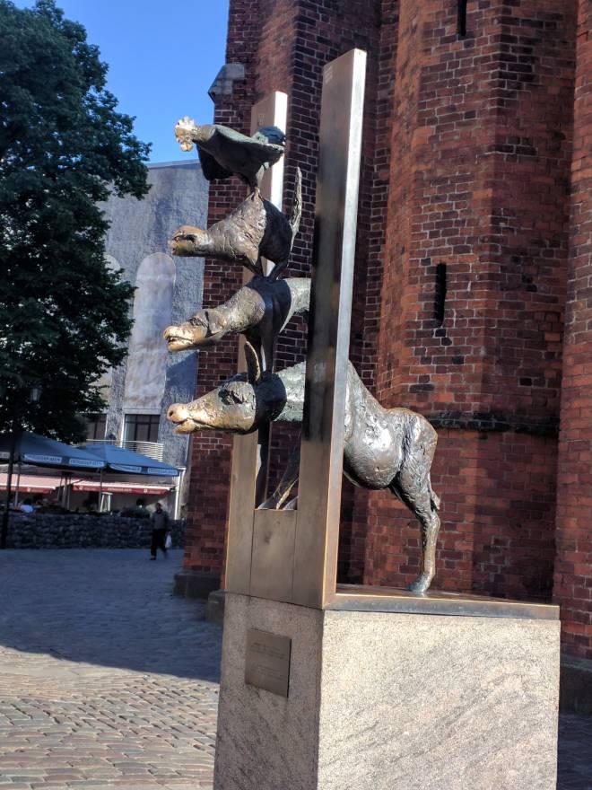 Riga Letonia igreja de são pedro musicos de bremen