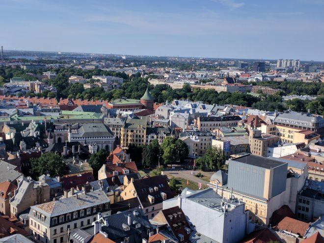 Riga Letonia igreja de são pedro vista 3