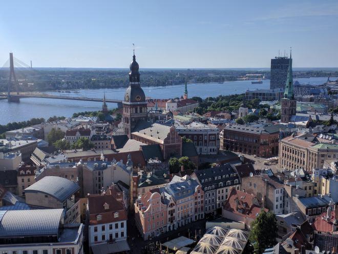 Riga Letonia igreja de são pedro vista 4