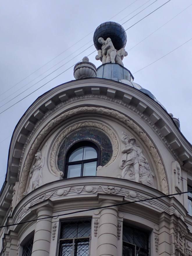 Riga Letonia telhado art nouveau