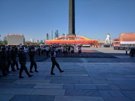 Dia da vitoria moscou parque vitoria preparação desfile
