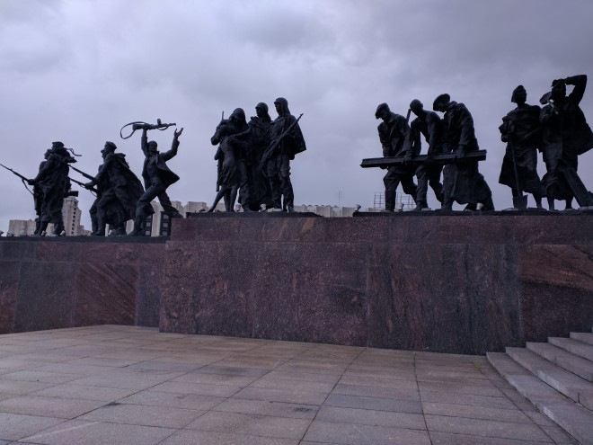 monumento aos defensores heroicos leningrado petersburgo segunda guerra