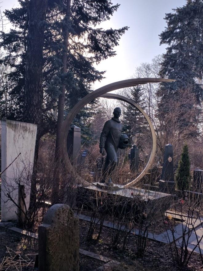 Moscou cemiterio Novodevichi cosmonauta beliaev