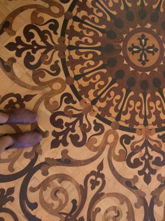 Petersburgo Hermitage chão de madeiras preciosas 3