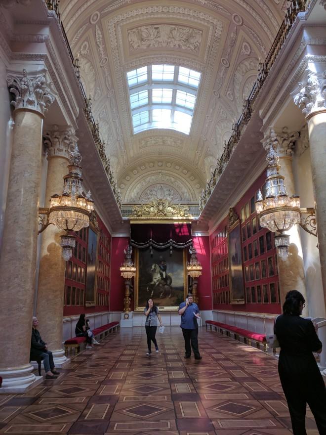 Petersburgo Hermitage Galeria militar 1812 guerras napoleonicas