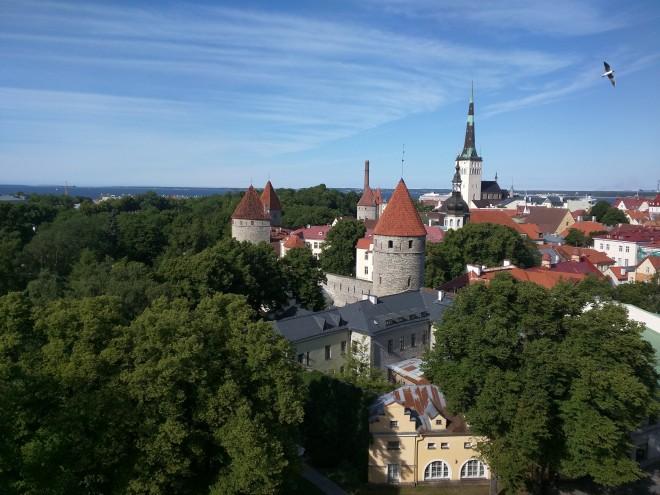 Tallinn centro histórico colina Toompea vista Patkuli 1