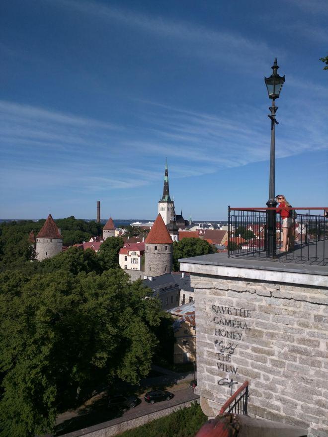 Tallinn centro histórico colina Toompea vista Patkuli 2