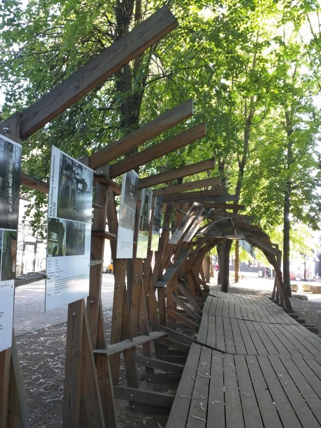 Telliskivi instalação arte tallinn