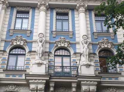 Letonia Riga Centro quieto bairro art nouveau 1