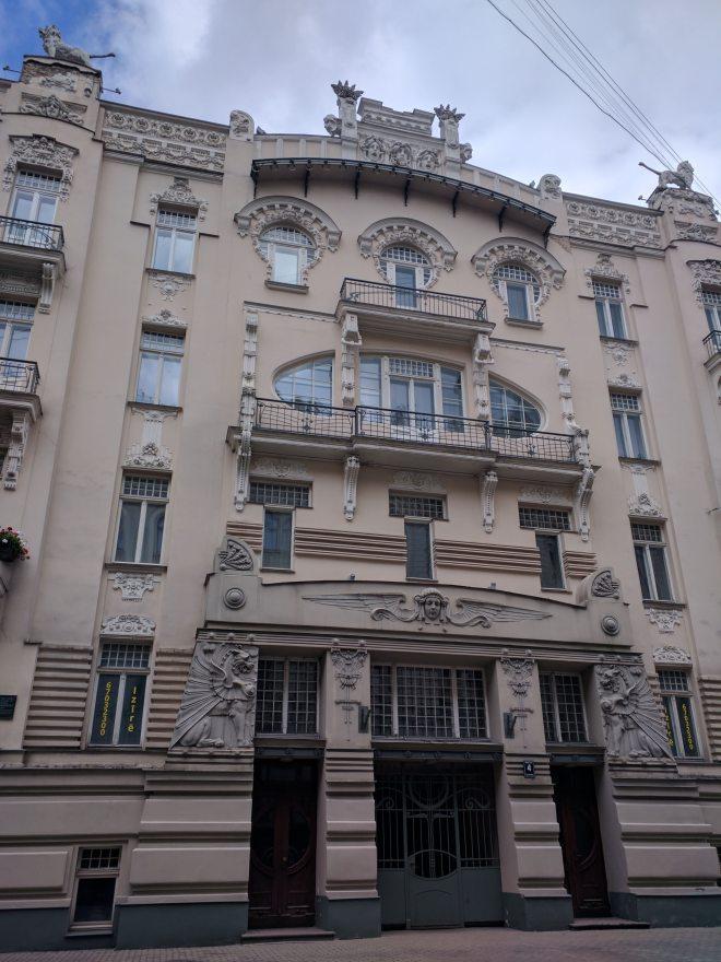 Letonia Riga Centro quieto bairro art nouveau 12
