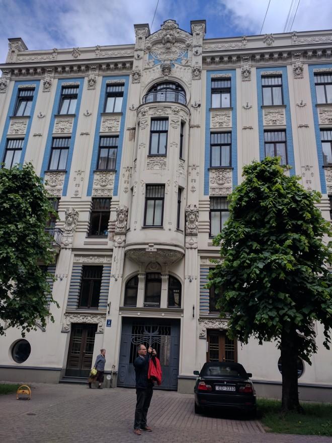 Letonia Riga Centro quieto bairro art nouveau 13