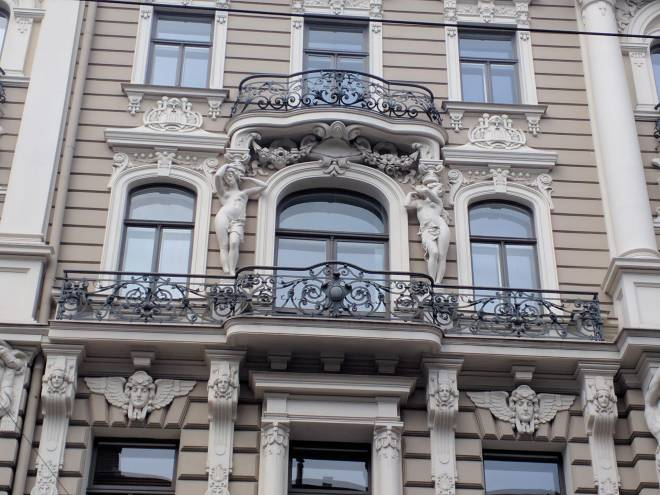 Letonia Riga Centro quieto bairro art nouveau 14