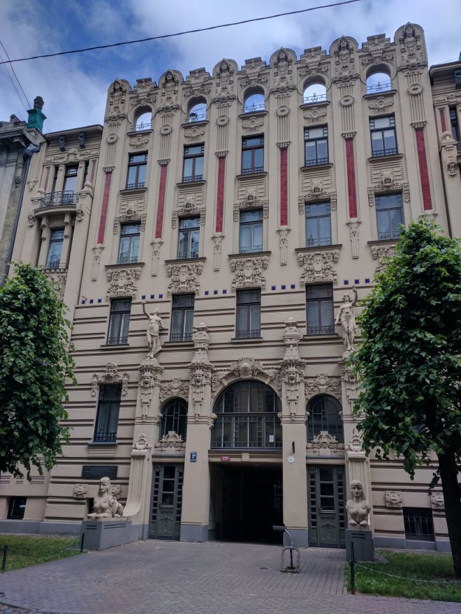 Letonia Riga Centro quieto bairro art nouveau 17
