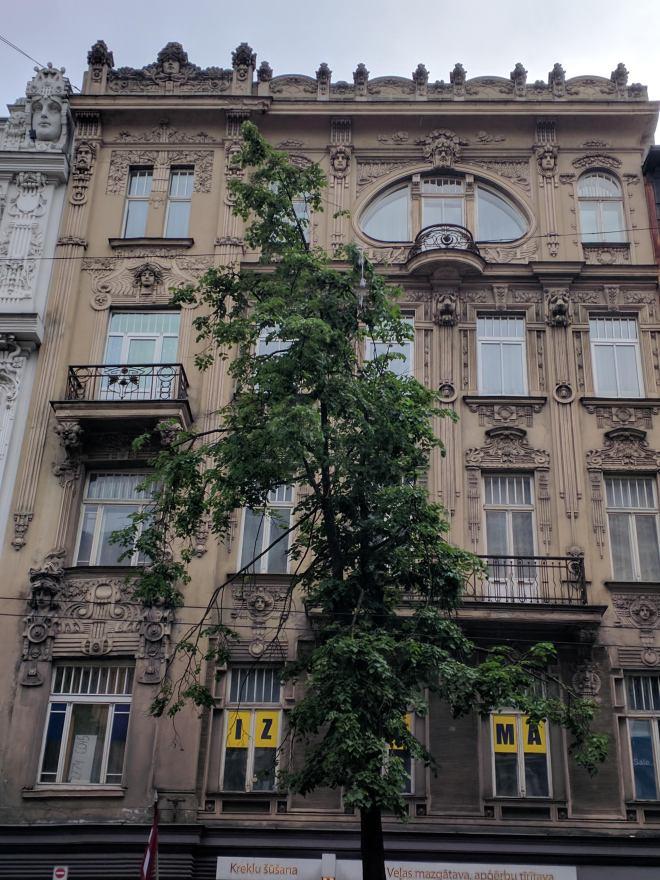 Letonia Riga Centro quieto bairro art nouveau 7