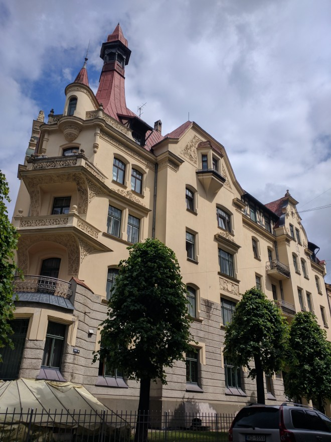 Letonia Riga Museu Art Nouveau exterior