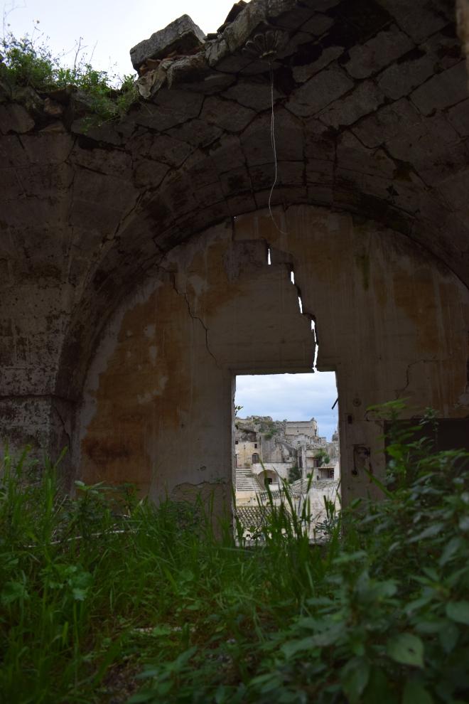 Matera italia sassi abandonados