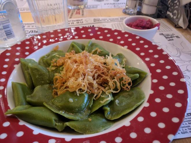 Varenichnaya 1 vareniki espinafre comida ucraniana moscou