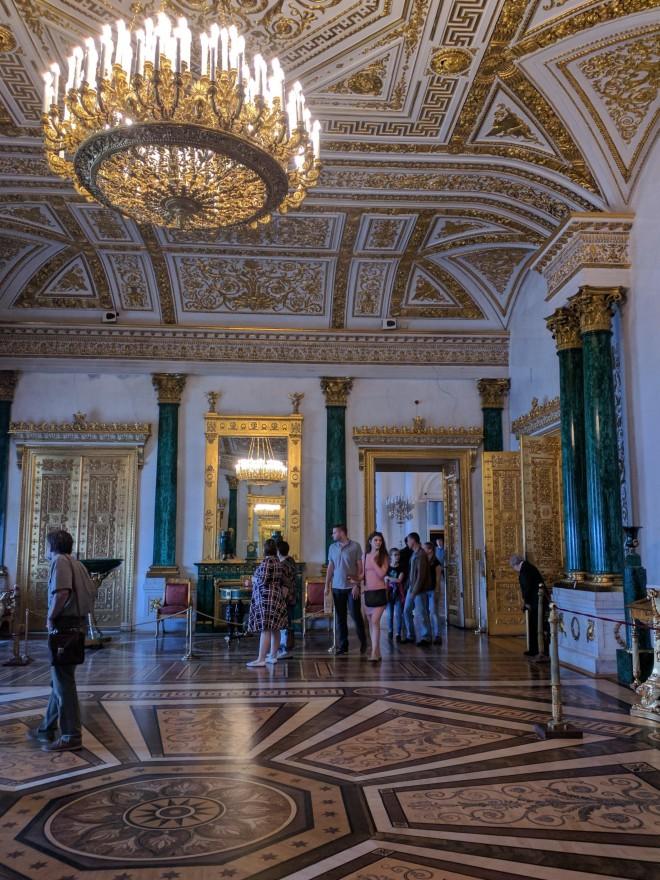 Petersburgo Hermitage sala de malachita 3
