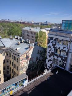 Petersburgo fabrica ocupada Loft Etagi terraço do terceiro andar