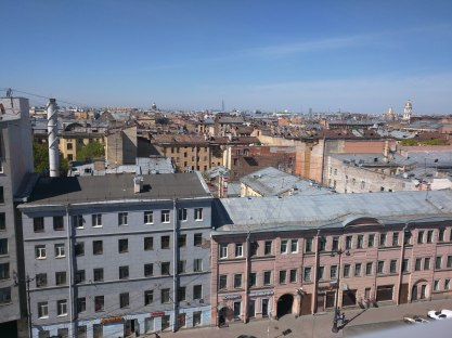 Petersburgo fabrica ocupada Loft Etagi vista terraço