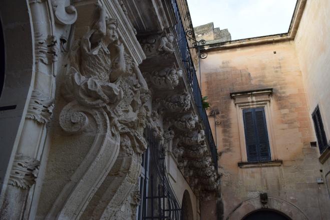 Puglia Lecce detalhe fachadas