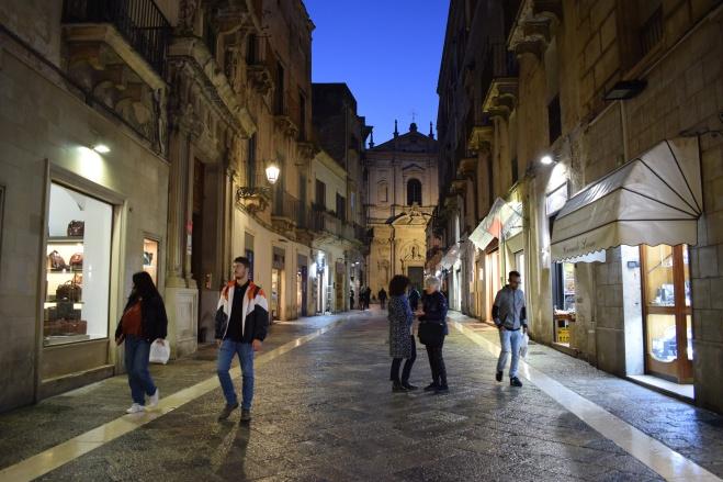 Puglia Lecce noite