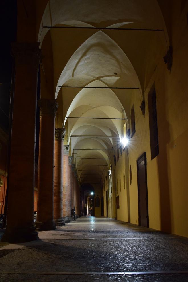 Bologna porticos palazzo dei bastardini