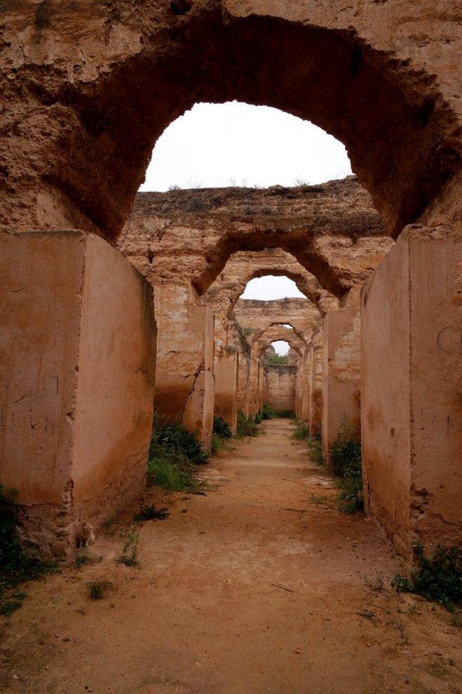 Meknes cidade imperial Marrocos estabulos Heri es Souani